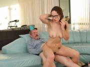 Daddy got me pregnant and big ass to fuck old mom Let's