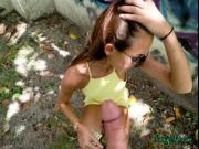 Horny Chick Charity Crawford Blows Hung Stud Outdoors