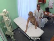 Blonde babe group fucked in hospital