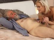 Vintage old and young Ria Sun was awakened by her boycr