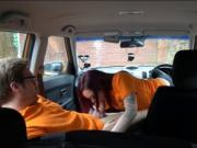 Petite American Chloe Carter analyzed by driving instru