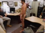 Straight black guys fuck to each other at office gay St