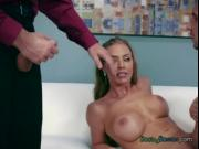 Busty Chick Nicole Aniston Gets Enjoyed By Her Bosses