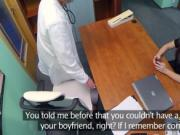 Brunette fucks doctor on the desk