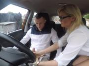Driving instructor banged by her student