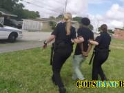Mature police woman with big tits catch a black guy red