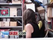 Security guard banging petite girl