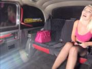 Rich teen Lovita Fate pays the taxi driver cash to stri