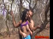 African sex slave is getting pumped full of fresh cum b