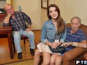 Horny old farts know how to bang perfectly round teen a