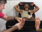 Gay twink feet tubes Mikey Tickle d In The Tickle Chair