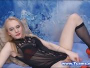 Slender Blonde Tranny Pleasures Her Sexual Urge