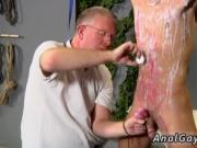 Gay chub puts twink on the wall and naked fat men outsi