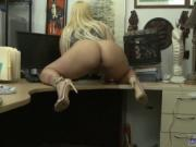 Blonde public show and tits in czech Make that money!