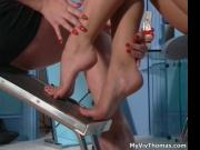 2 horny lesbian girls having fetish foot sex 1 by MyViv