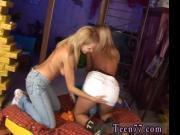 Two succulent platinum-blonde lesbians