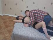 Slutty teen gf punished by her nasty bf
