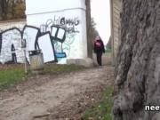 Fresh girls filmed taking a piss in nature