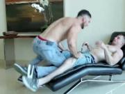 Markie More bends Johnny over and fucks him raw from be
