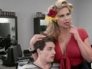 Abella Danger and Phoenix Marie gets banged in salon by