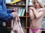Riley gets bent over and fucked agains't the desk