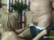 Attractive mature blonde is a luxury slut who rides han