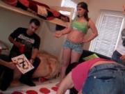 Pornstar gets kinky on a prick