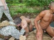 Army blowjob video gay Jungle plow fest