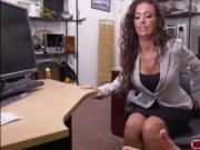 Brunette babe Victoria licks pawndudes fingers and fuck