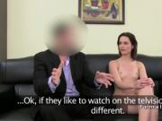 Assistant anal fucks client and female agent