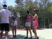 Redhead tennis player boned by her coach