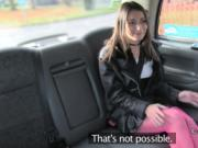 Amateur babe gets ass to mouth in fake taxi