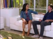 Kara Faux bent over on a Sofa getting banged Doggystyle