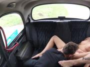 Blonde cab driver fucked on the road