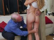 Black old man fucking and girl dominates Molly Earns He