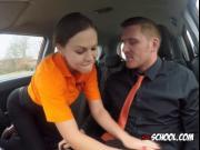 Chick Tina Kay Blows Hung Driving Instructor
