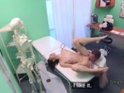 Long legged patient fucks doctor