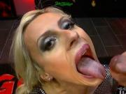 Amazing blonde milf brittany bardot swallows everything