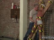 Gay bondage fucking Slave Boy Made To Squirt