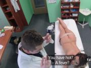 Doctor banging horny big tits babe