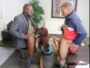 Hottie Syren De Mer Gets Sandwiched By Black Studs