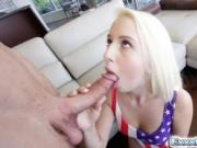 Petite blonde Darcie Belle fucks like a pro