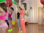 Threesome interracial lesbian fitness sex