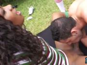 Referee gets abused by horny trannies outdoors