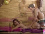 Hottie brunette Uma Jolie gets a licking from Tyler unt