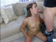 Round booty and horny Ally Tate fucks dudes hard cock a