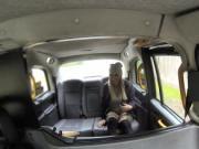Australian hottie bangs in British fake cab