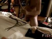 Fisting gay man on chair Piggie Tim Gets Flogged
