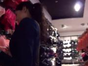 Charming czech chick gets seduced in the shopping centr