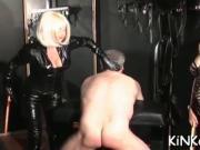 Babe makes slave waiter on her